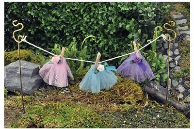 Miniature Dollhouse FAIRY GARDEN - Fairy Clothes Line - Accessories (Fairy Cloths)