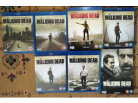 The Walking Dead Seasons 1-6 (Blu-ray) 7 (DVD) used very good condition Christmas Gift