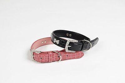 Luxury Leather Cubic Zirconia Studded Dog Collars