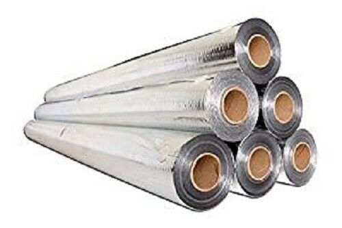Perforated Radiant Barrier Reflective Foil Insulation 500 Sq Ft 4x125 50 Gram
