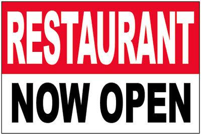 Restaurant Now Open Vinyl Banner Sign 2x3 Ft - Yb
