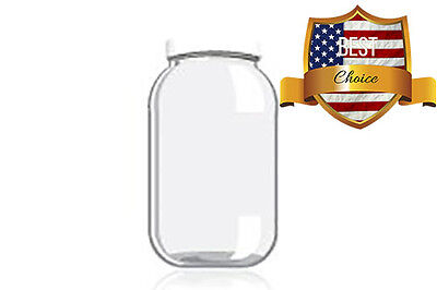 Kombucha NEW Fermentation Large Glass Canning Jar Plastic Lid 1 gallon Storage