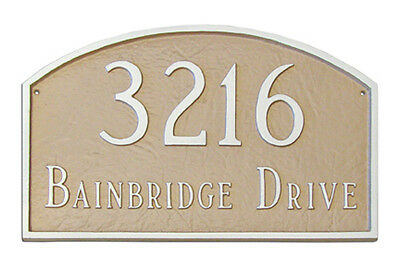Prestige Arch PETITE Address Plaque Lawn House Sign Numbers wall Custom ONE -