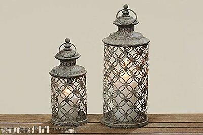Boltze Rustic Antiqued Lantern Bolero Set of 2 - 35cm