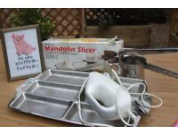 Electric carving knife - Potato Ricer - Mandolin