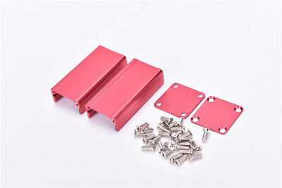 Extruded Aluminum Box Red Enclosure Electronic Project Case Pcb Diy 502525mmhi