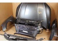 One unit: OEM Front end udi A5 S5 8W6 Frontpaket Front grill , Mudguard, Bonnet, gray