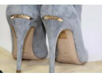 BNIB Burberry Size UK3 EU36 Heritage Grain Burlison Peep Toe Ankle Boots