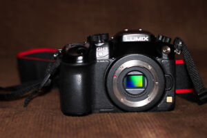 Panasonic GH3 , two batteries, charger, and Canon Lens adapter