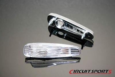 Circuit Sports JDM Clear Crystal Clear Sidemarker Light For 240SX S14 Zenki