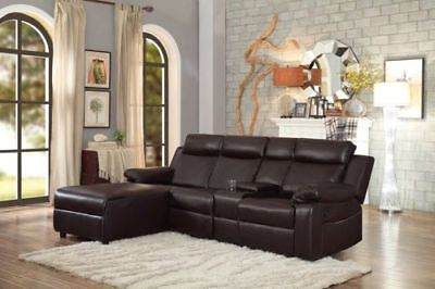 brown large recliner sectional sofa couch chaise