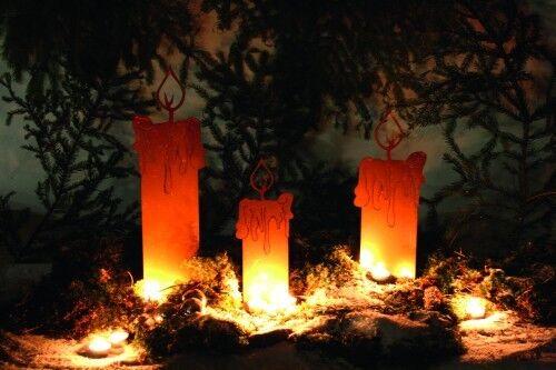 Feuerlicht deko rost weihnachten feuer kerzen in saarland for Deko rost weihnachten
