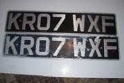 Car Number Plates Pair