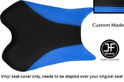 BLACK AND LIGHT BLUE VINYL CUSTOM FITS <em>YAMAHA</em> 1000 YZF R1 FRONT SEAT C