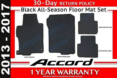 Genuine OEM Honda Accord 4 DR Black All Season Floor Mat Set 13 17 08P13 T2A 110