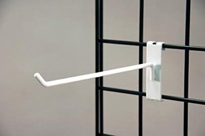Commercial Grade Gridwall Hooks 12 Grid Panel Peg Hooks White Pack Of 50