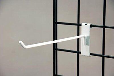 Commercial Grade Gridwall Hooks 12 Grid Panel Peg Hooks White Pack Of 25