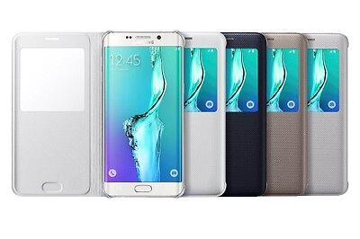 Samsung Galaxy S6 EDGE+ Case S-View Flip Cover Folio ( 4 Colors Available ) (Samsung Galaxy S4 S View Flip Case)
