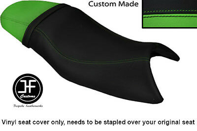 BLACK AND LIGHT GREEN VINYL CUSTOM FITS TRIUMPH SPEED FOUR 600 DUAL SE