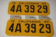 1950 California License Plate