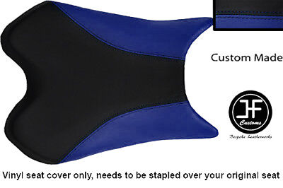BLACK AND ROYAL BLUE VINYL CUSTOM FOR <em>YAMAHA</em> 1000 YZF R1 FRONT SEAT CO