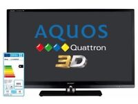 """Sharp Aquos Flat Screen LCD 3D 1080p 46"""" LED LC-46LE831 TV Glasses and long HDMI cable included"""