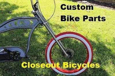 35  Fat Tire 6X4  Triple Tree Chrome Bicycle Fork Chopper 1  Threadless