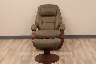 Fjords Admiral Small Recliner Chair and Ottoman Astro Line Safari (Admiral Chair)