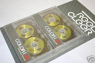 Gold Reel to Reel Cassette Tapes