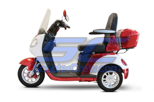 EW-42 Electric Powered Mobility Scooter Vehicle 15mph Red 42