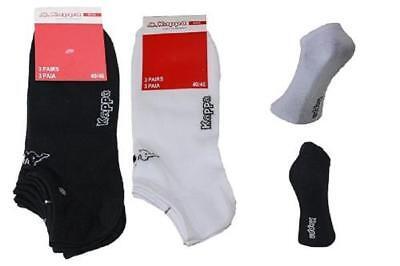 6 Paar Herren Kappa Sneaker Socken schwarz /  weiß mit Logo Top Angebot