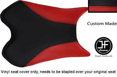 BLACK AND DARK RED VINYL CUSTOM FITS <em>YAMAHA</em> 1000 YZF R1 FRONT SEAT COV