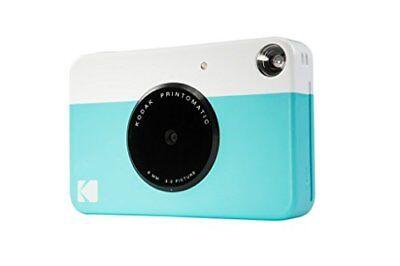 Kodak PRINTOMATIC Digital Instant Print Camera (Blue), Full Color Prints On ZINK