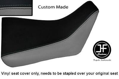BLACK AND GREY VINYL CUSTOM FOR <em>YAMAHA</em> FZR 600 89 99 FRONT RIDER SEAT