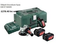 NEW - METABO W18 LTX 150 QUICK CORDLESS ANGLE GRINDERS, 3 YEARS WARRANTY INC, BALLYNAHINCH