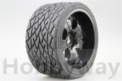 4pcs RC 1/8 Monster Truck On Road Wheels&Tire Set Tyre For HPI Traxxas 26411