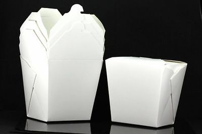 10x 32oz Chinese Take Out To Go Boxes Microwavable Gift Boxes White