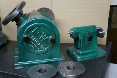 L-w 11 Chuck Dividing Head W Tail Stockface Plate And Plates