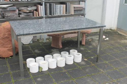 Tisch edelstahl granit ebay for Terrassentisch granit