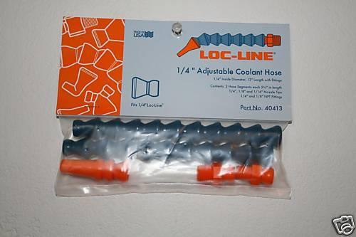 "Loc-Line 1/4"" Hose Adjustable Coolant Hose w/assorted fittings 40413 ""NEW!!!"
