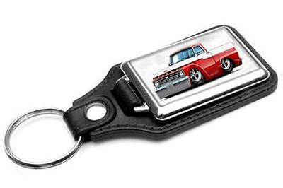 1966 Ford F-100 Pickup Truck Car-toon Key Chain Ring Fob NEW