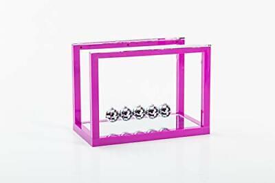 Asian Home Newtons Cradle Balance Balls 5 Pendulum Balls With Mirror Desk Top...