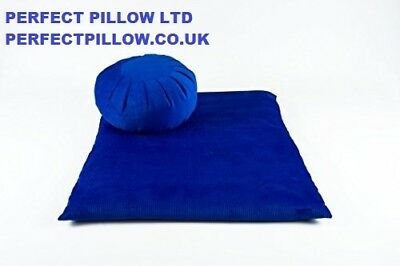 Used, ZABUTON+MEDITATION ZAFU CUSHION>BLUE> ORGANIC BUCKWHEAT FILL,CORDUROY fabric for sale  Shipping to Ireland