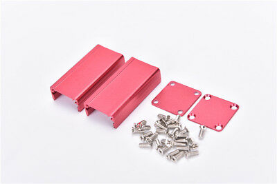 Extruded Aluminum Box Red Enclosure Electronic Project Case Pcb Diy 502525mmjb