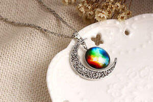 Pretty crescent moon necklace