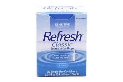 4 Packung - Erfrischung Augentropfen Einzeln Dosierung 30 Einweg Behälter Je