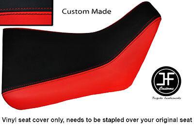 BLACK AND RED VINYL CUSTOM FITS <em>YAMAHA</em> FZR 600 89 99 FRONT RIDER SEAT