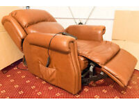 Chocolate Leather Rise and Recline Chair