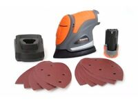 SALE Terratek 12V Li-Ion Cordless Detail Power Palm Sander