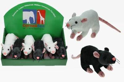 Plüsch Ratte weiß od. schwarz Kuscheltier Halloween NaTierliche - Halloween Geschenke